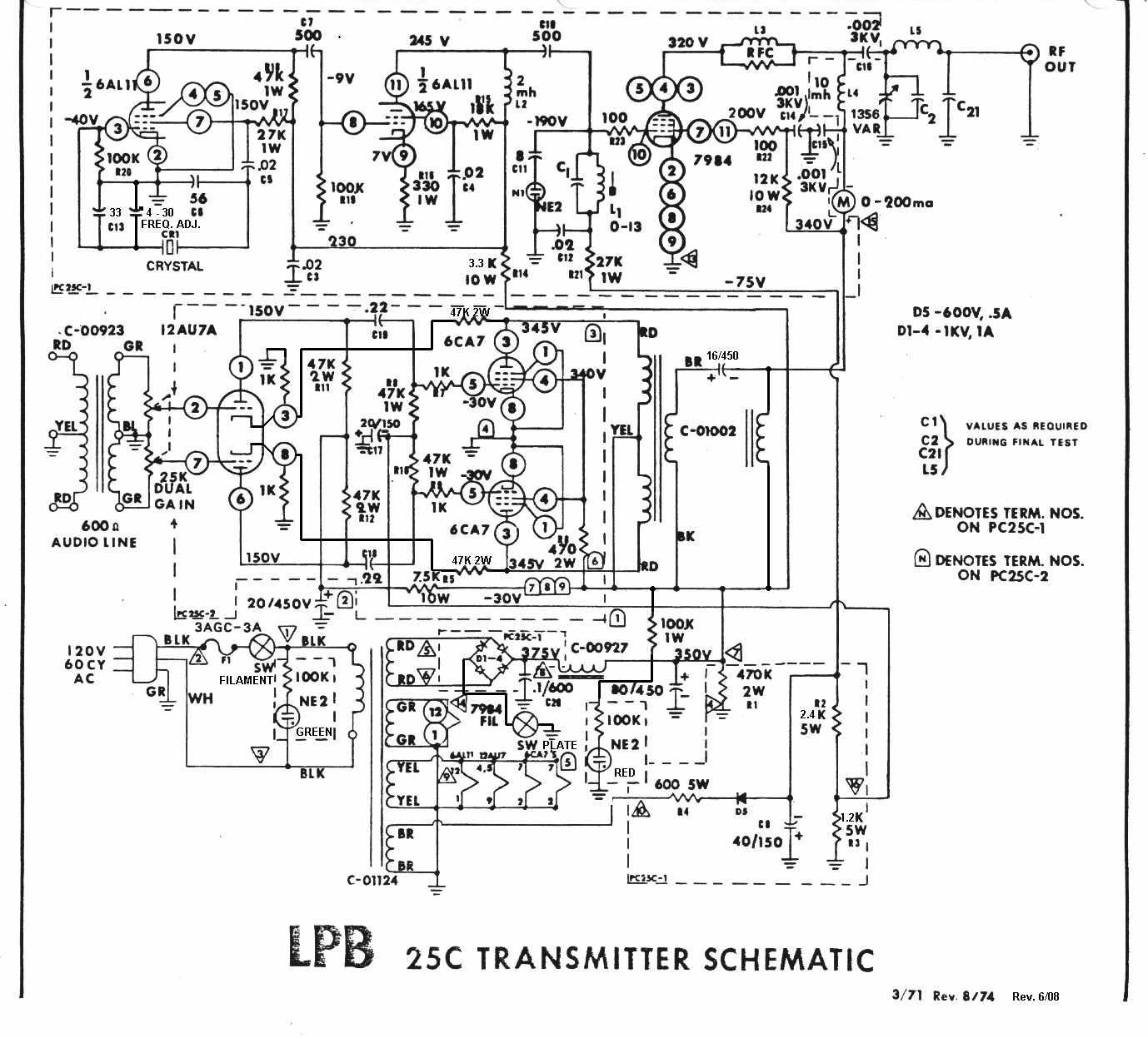 Opamp Vhf Fm Transmitter Circuit Diagram Flotsam Documents Articles Schematics And Manuals Lpb Model 25b Am Image Of Schematic